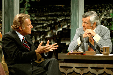 Billy Graham appeared on The Tonight Show with Johnny Carson in 1972.