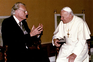 Billy Graham met with Pope John Paul II in 1993.