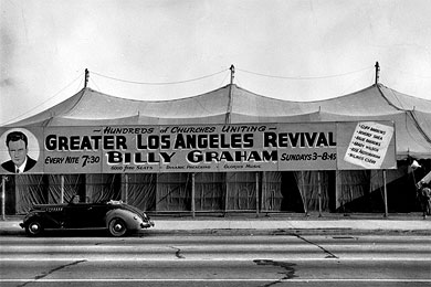 In 1949, Billy Graham held the Los Angeles Crusade for eight weeks. The event captured the public's attention and thrust Mr. Graham's ministry into the media spotlight.