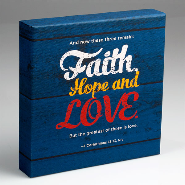 Faith, Hope, and Love Block Art